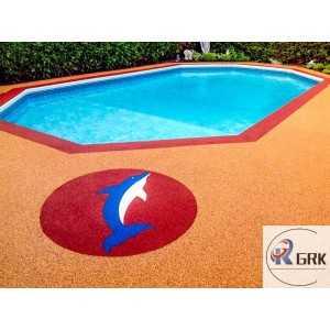 Anti-slip swimming pool surrounds flooring wear resistant bright-colored