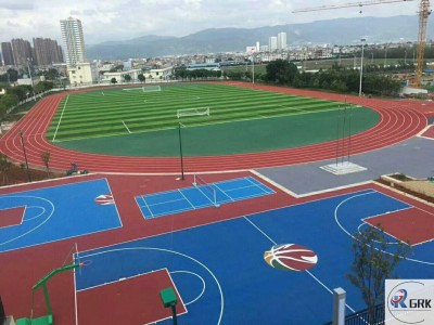 400m standard 8 lines synthetic PU rubber running track