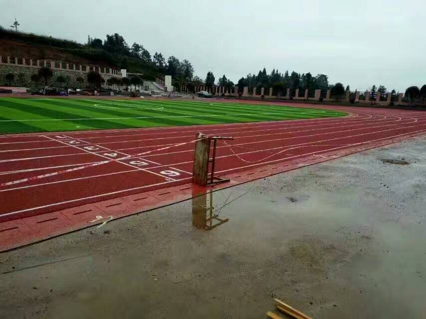 Full PU synthetic rubber running track